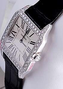 CARTIER Santos Dumont Solid Gold & Diamond Ladies Watch WH100251 RRP