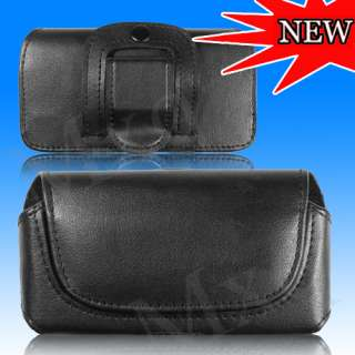 BLACK BELT CLIP LEATHER CASE POUCH COVER FOR NOKIA N8