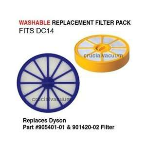 Dyson Vacuum DC14 HEPA Filter Kit   Washable Pre & Post