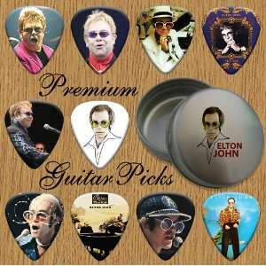 Elton John 10 Premium Guitar Picks In Tin (0) Musical