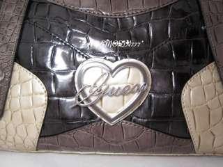 GUESS EBBIE ELMA Bag Purse Handbag Satchel Tote Sac Heart Logo Wallet