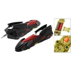 Black Green Three Wheels Pointed Racing Car Toy for Children Baby