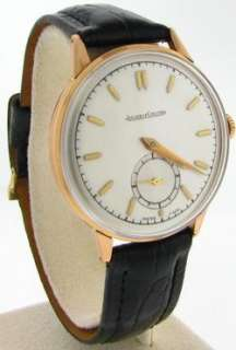 JAEGER LECOULTRE 18K PINK GOLD WATCH CIRCA 1960
