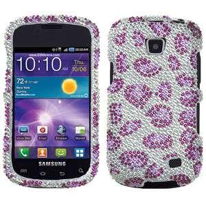 Samsung Galaxy Proclaim Crystal Diamond BLING Case Phone Cover Purple