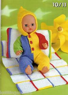 Knitting Pattern Baby  Barbie Doll & Premature Babies