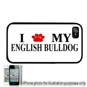 English Bulldog Paw Love Dog Apple iPhone 4 4S Case Cover