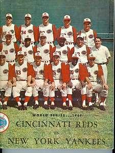 1961 World Series Reds Yankees Program em