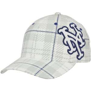 Brand New York Mets White Provoker Closer Flex Hat Sports & Outdoors