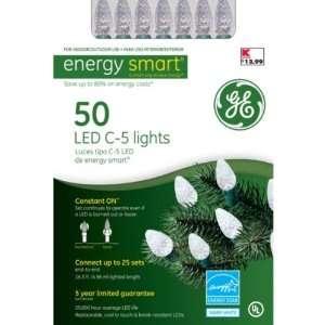 Ge Energy Smart C5 50 LED Christmas Light Set   Warm White Energy Star