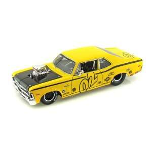 1970 Chevy Nova SS Coupe Pro Street 1/24 Yellow Toys & Games
