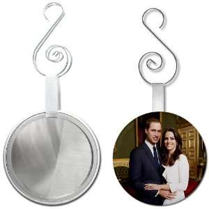 Prince William Kate Middleton Royal Engagement 2.25 inch Glass Mirror