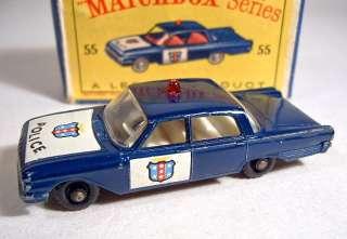 Matchbox RW No.55B Ford Fairlane Police Car dark blue