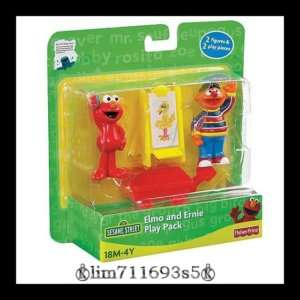 Sesame Street Elmo & Ernie Play Pack Figures