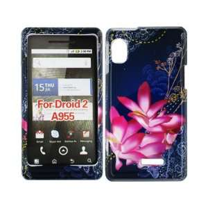 Chinese Pink Flowers Crystal 2D Hard Case Cover for