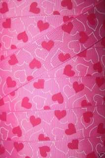 HEARTS O PLENTY VALENTINE GROSGRAIN RIBBON PINK