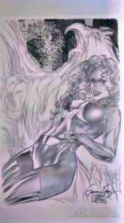 Dark Phoenix II Black & White Print Signed by Gene Espy