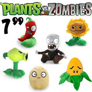 6pcs Plants Vs Zombies Stuffed Soft Plush Toy Doll 7