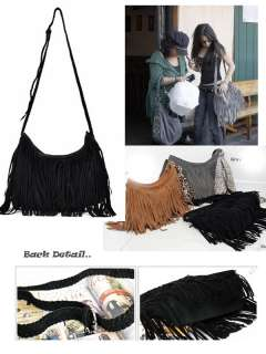 New FX suede Fringe Tassel Shoulder Messenger Cross bag