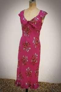 BETSEY JOHNSON DESIGNER MUTED PINK CHERRY DRESS SMALL