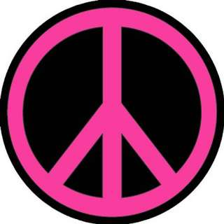 PEACE SIGN PINK BLACK ROUND MOUSE PAD NEW COOL FUN