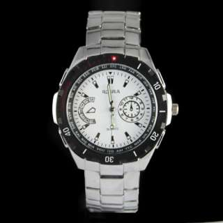 2012 Fashion Luxury Good Mens Stainless Steel Band Wrist Watch Watches
