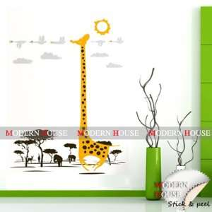 Modern House Safari Playland Giraffe and African Animals