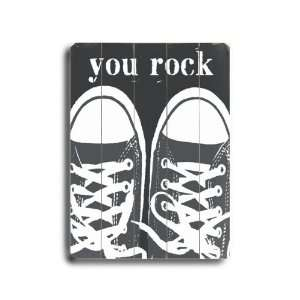 You Rock Gray Sneakers Vintage Wood Sign Patio, Lawn