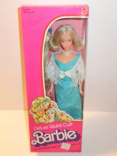 NIB BARBIE DOLL 1975 DELUXE QUICK CURL