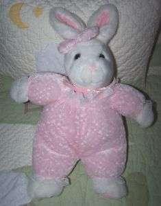 Penney Pink/White Plush Bunny Rabbit w/Lace EUC