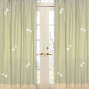 Green Dragonfly Dreams Window Panels   Set Of 2