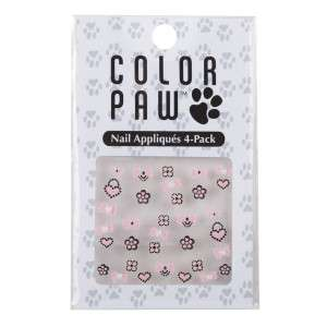 Color Paw Pet Dog Fashion Nail Appliques Stickers 4PK