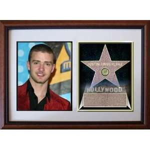 Justin Timberlake 8 x 10 Custom Framed Hollywood Stars