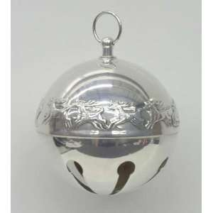 Wallace Sleigh Bell Silverplate Ornament with Box