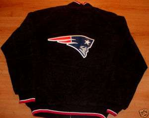 New England Patriots Suede Leather Jacket Medium NFL