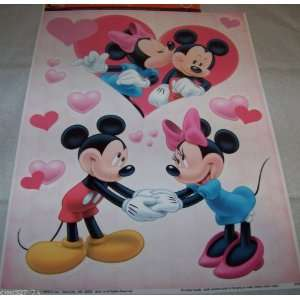 Disney Minnie & Mickey Mouse Kiss & Hearts Valentines Day