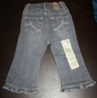 New THE CHILDRENS PLACE Baby Girls Ruffle Flare Jeans (12 MOS/18 22