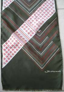 Vintage Fiorini neck scarf olive white ,red, blue