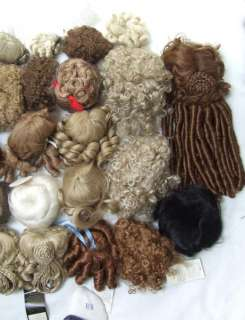 Large Lot Doll Wigs Most Unused Vintage Baby, Reborn OOAK, Repro