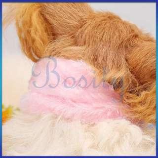 Pet Dog Puppy Doggie Pink Soft Fluffy Winter Warm Scarf Neck Wrap