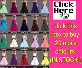Wedding Bridesmaid Prom Ball Party Evening Cocktail Sizes uk 8 20