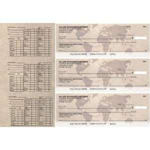 World Map Payroll Designer Business Checks Office Products