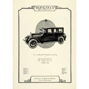 1922 Ad Daniels Four Passenger Sedan Automobile Mr Joseph
