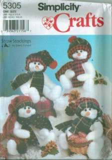 OOP Simplicity Snowman Christmas Holiday Decoration Sewing Pattern