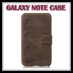 ZENUS Samsung Galaxy Note Leather Case N7000 PRESTIGE VINTAGE G NOTE