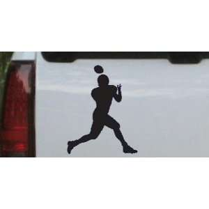 Navy 16in X 12.8in    Football Player Sports Car Window Wall Laptop