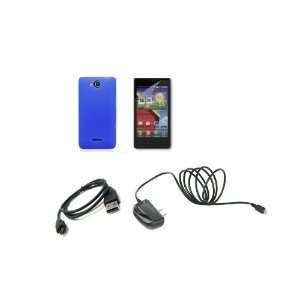 LG Lucid (Verizon) Premium Combo Pack   Blue Silicone Soft