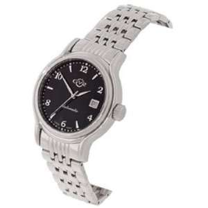 Gevril GV2 Classic Mens Black Dial Stainless Steel Watch