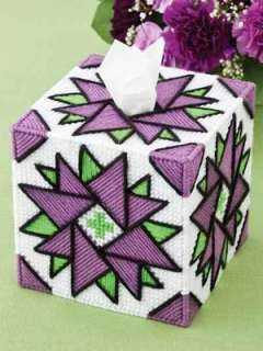 Easy to Stitch Tissue Boxes Plastic Canvas Patterns Topper Beginner