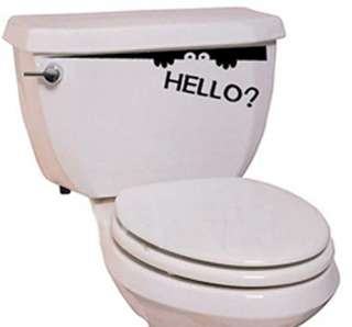 VINYL WALL ART Funny Toilet Bathroom / Wall Stickers B4