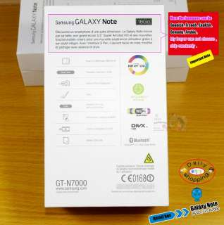 For Samsung Galaxy Note GT N7000 i9220 original Retail hard box black